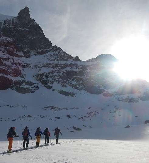 Ski touring with a Guide