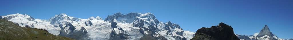 Monte Rosa and Matterhorn