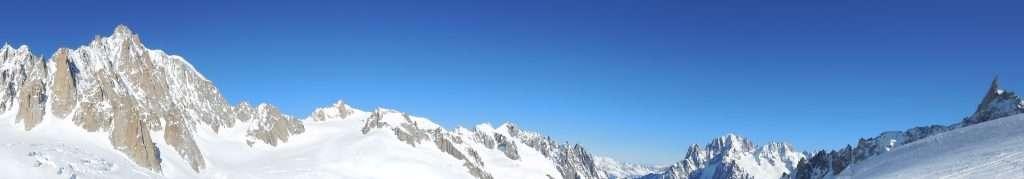 Monte Bianco glaciers