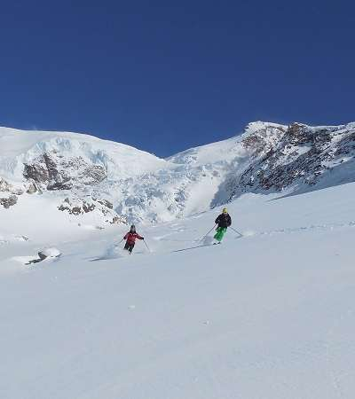 First Tracks in The Monte Rosa